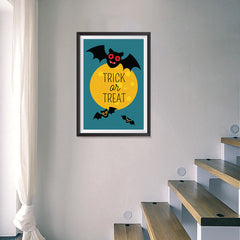 Ezposterprints - Trick Or Treat - Bats Halloween Poster - 16x24 ambiance display photo sample