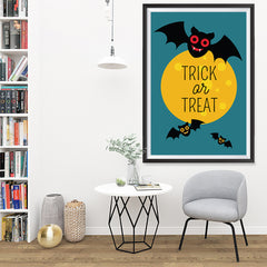 Ezposterprints - Trick Or Treat - Bats Halloween Poster - 32x48 ambiance display photo sample