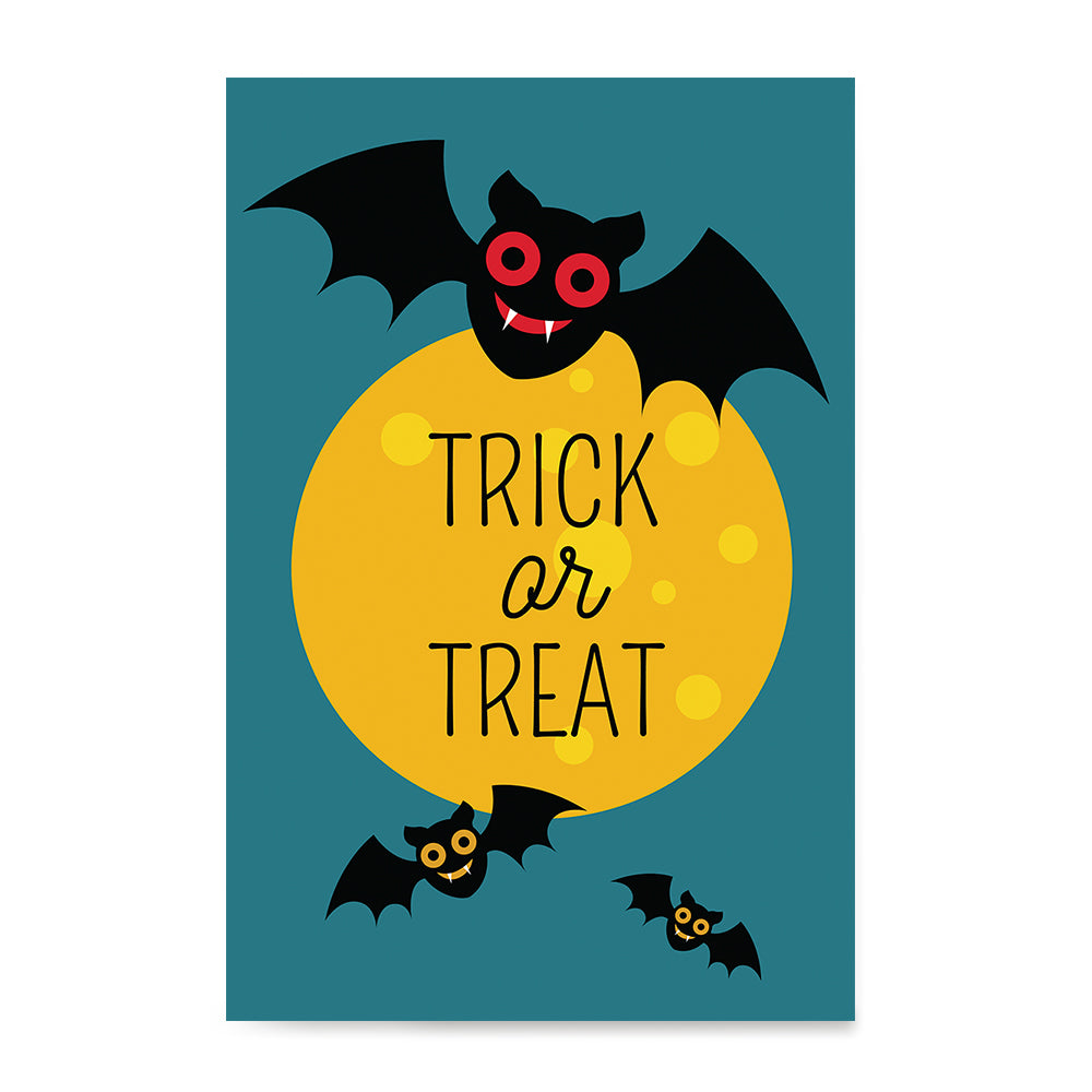 Ezposterprints - Trick Or Treat - Bats Halloween Poster ambiance display photo sample