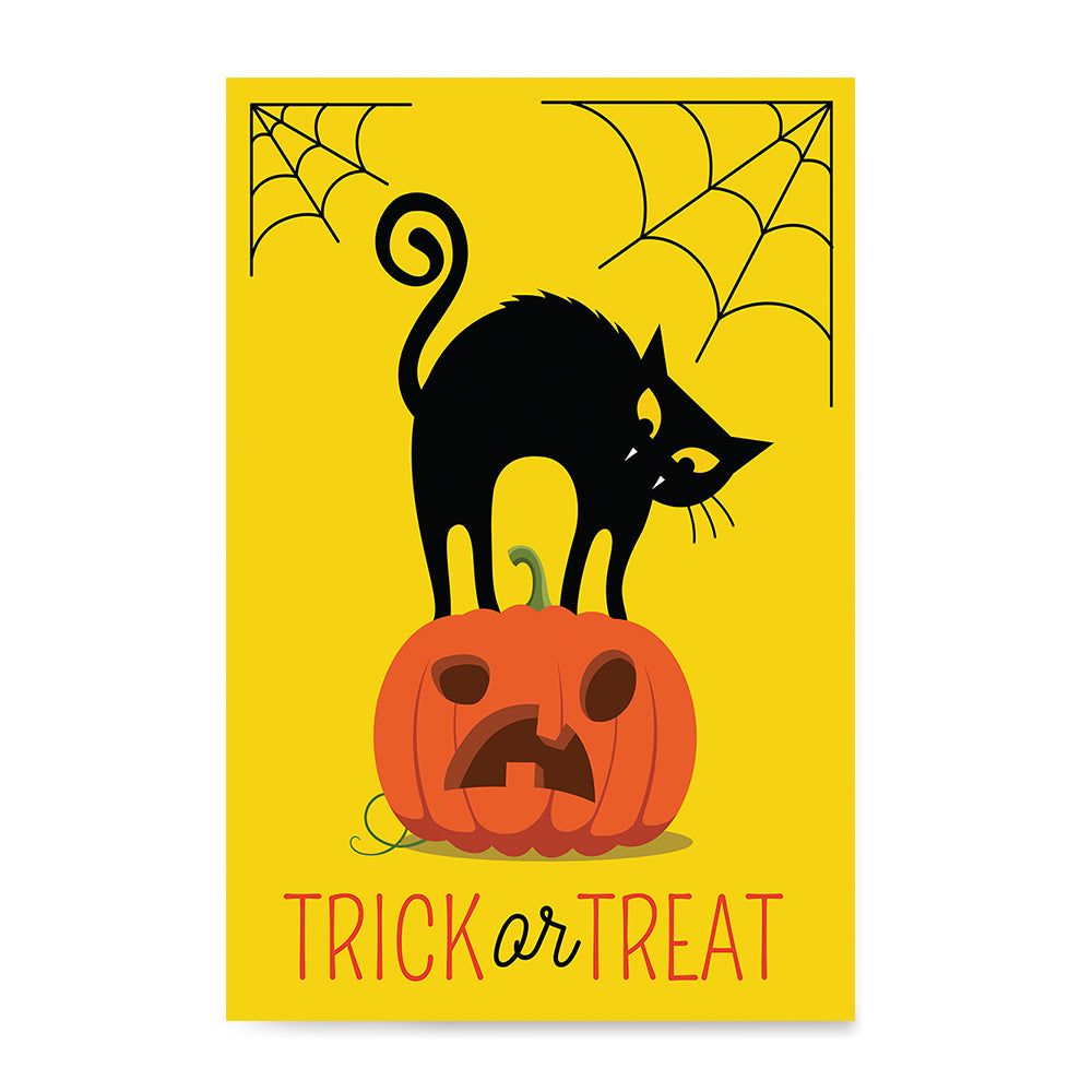 Ezposterprints - Trick Or Treat - Cat Halloween Poster ambiance display photo sample