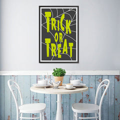 Ezposterprints - Trick Or Treat - Green Halloween Poster - 12x18 ambiance display photo sample