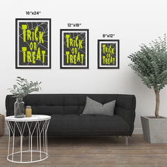 Ezposterprints - Trick Or Treat - Green Halloween Poster