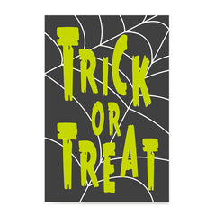 Ezposterprints - Trick Or Treat - Green Halloween Poster ambiance display photo sample