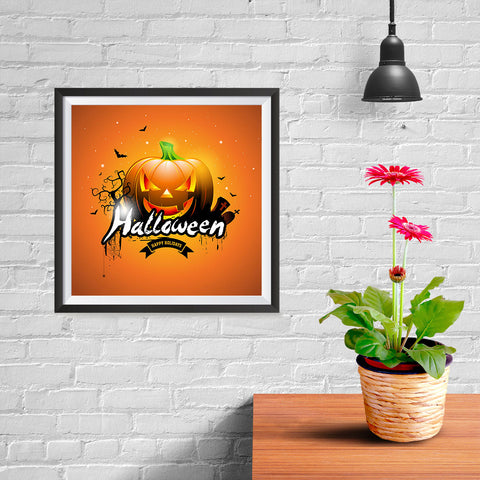 Ezposterprints - Big Pumpkin Halloween Poster - 10x10 ambiance display photo sample