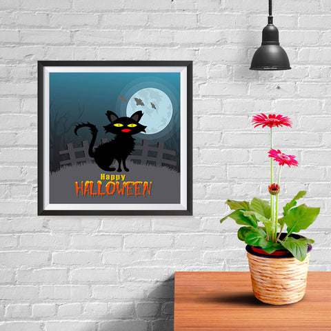 Ezposterprints - Black Cat Halloween Poster - 10x10 ambiance display photo sample
