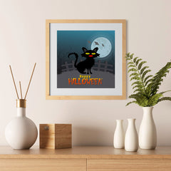Ezposterprints - Black Cat Halloween Poster - 12x12 ambiance display photo sample