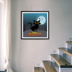 Ezposterprints - Black Cat Halloween Poster - 16x16 ambiance display photo sample