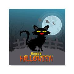 Ezposterprints - Black Cat Halloween Poster