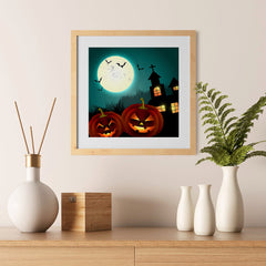 Ezposterprints - Blue Night Halloween Poster - 12x12 ambiance display photo sample