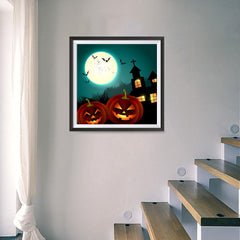 Ezposterprints - Blue Night Halloween Poster - 16x16 ambiance display photo sample
