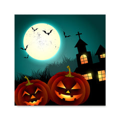 Ezposterprints - Blue Night Halloween Poster