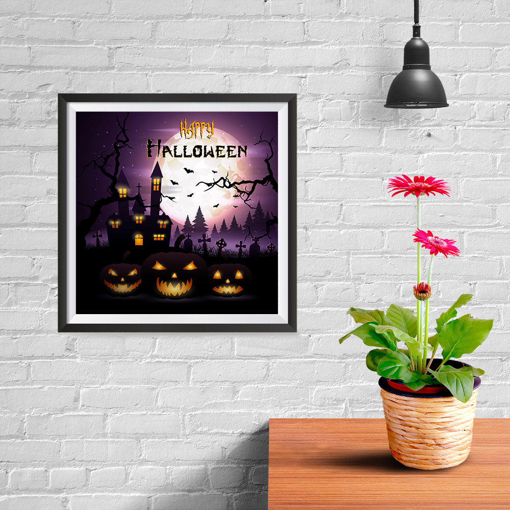 Ezposterprints - Dark Night Halloween Poster - 10x10 ambiance display photo sample