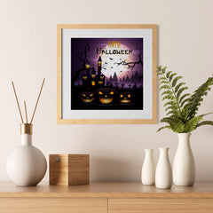 Ezposterprints - Dark Night Halloween Poster - 12x12 ambiance display photo sample
