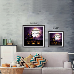 Ezposterprints - Dark Night Halloween Poster ambiance display photo sample