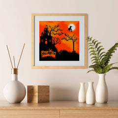 Ezposterprints - Flying Witch Halloween Poster - 12x12 ambiance display photo sample