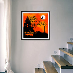 Ezposterprints - Flying Witch Halloween Poster - 16x16 ambiance display photo sample
