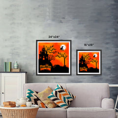 Ezposterprints - Flying Witch Halloween Poster ambiance display photo sample