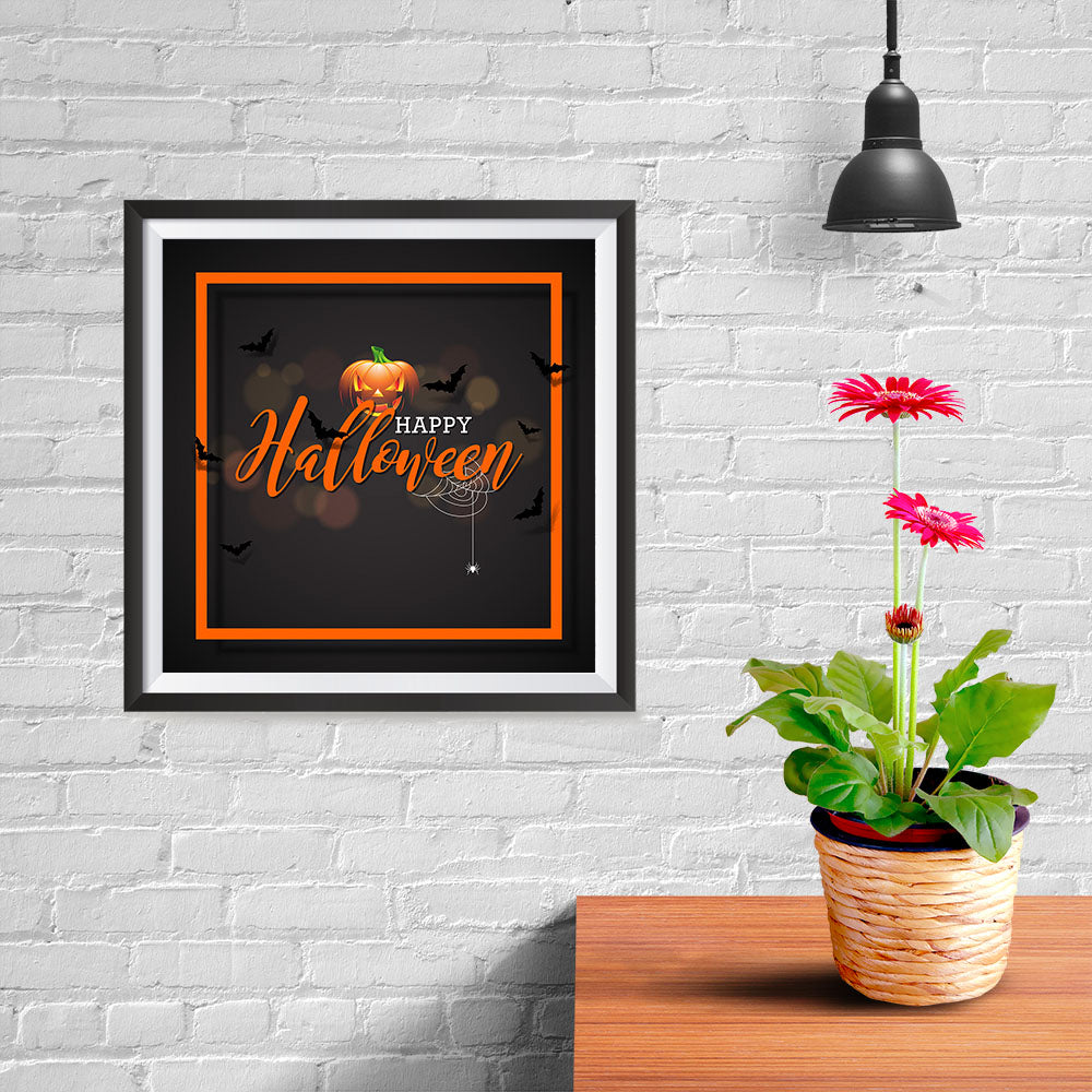 Ezposterprints - Framed Pumpkin Halloween Poster - 10x10 ambiance display photo sample
