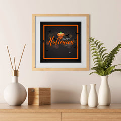 Ezposterprints - Framed Pumpkin Halloween Poster - 12x12 ambiance display photo sample