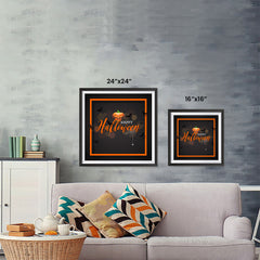Ezposterprints - Framed Pumpkin Halloween Poster ambiance display photo sample