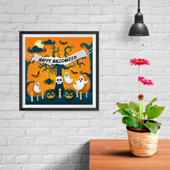 Ezposterprints - Ghosts Halloween Poster - 10x10 ambiance display photo sample