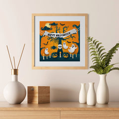 Ezposterprints - Ghosts Halloween Poster - 12x12 ambiance display photo sample