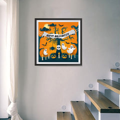 Ezposterprints - Ghosts Halloween Poster - 16x16 ambiance display photo sample