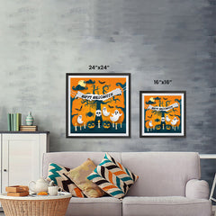 Ezposterprints - Ghosts Halloween Poster ambiance display photo sample