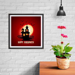 Ezposterprints - House and Moon Halloween Poster - 10x10 ambiance display photo sample
