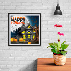 Ezposterprints - Lighted House Halloween Poster - 10x10 ambiance display photo sample