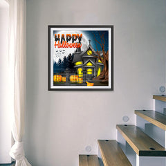 Ezposterprints - Lighted House Halloween Poster - 16x16 ambiance display photo sample
