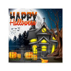 Ezposterprints - Lighted House Halloween Poster
