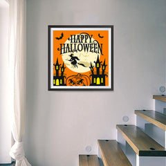 Ezposterprints - Moon and Witch Halloween Poster - 16x16 ambiance display photo sample