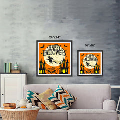 Ezposterprints - Moon and Witch Halloween Poster ambiance display photo sample