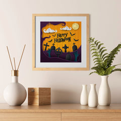 Ezposterprints - Walking Dead Halloween Poster - 12x12 ambiance display photo sample
