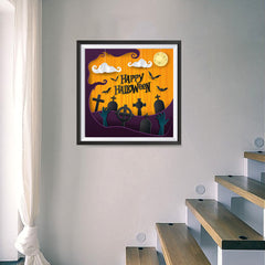Ezposterprints - Walking Dead Halloween Poster - 16x16 ambiance display photo sample