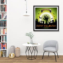 Ezposterprints - Walking Dead 2 Halloween Poster - 32x32 ambiance display photo sample