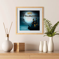 Ezposterprints - Wolf and Bats Halloween Poster - 12x12 ambiance display photo sample