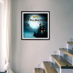 Ezposterprints - Wolf and Bats Halloween Poster - 16x16 ambiance display photo sample