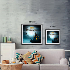 Ezposterprints - Wolf and Bats Halloween Poster ambiance display photo sample
