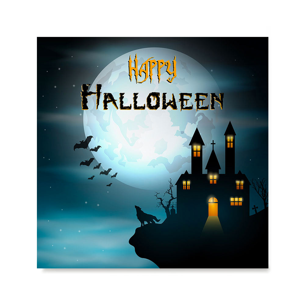 Ezposterprints - Wolf and Bats Halloween Poster