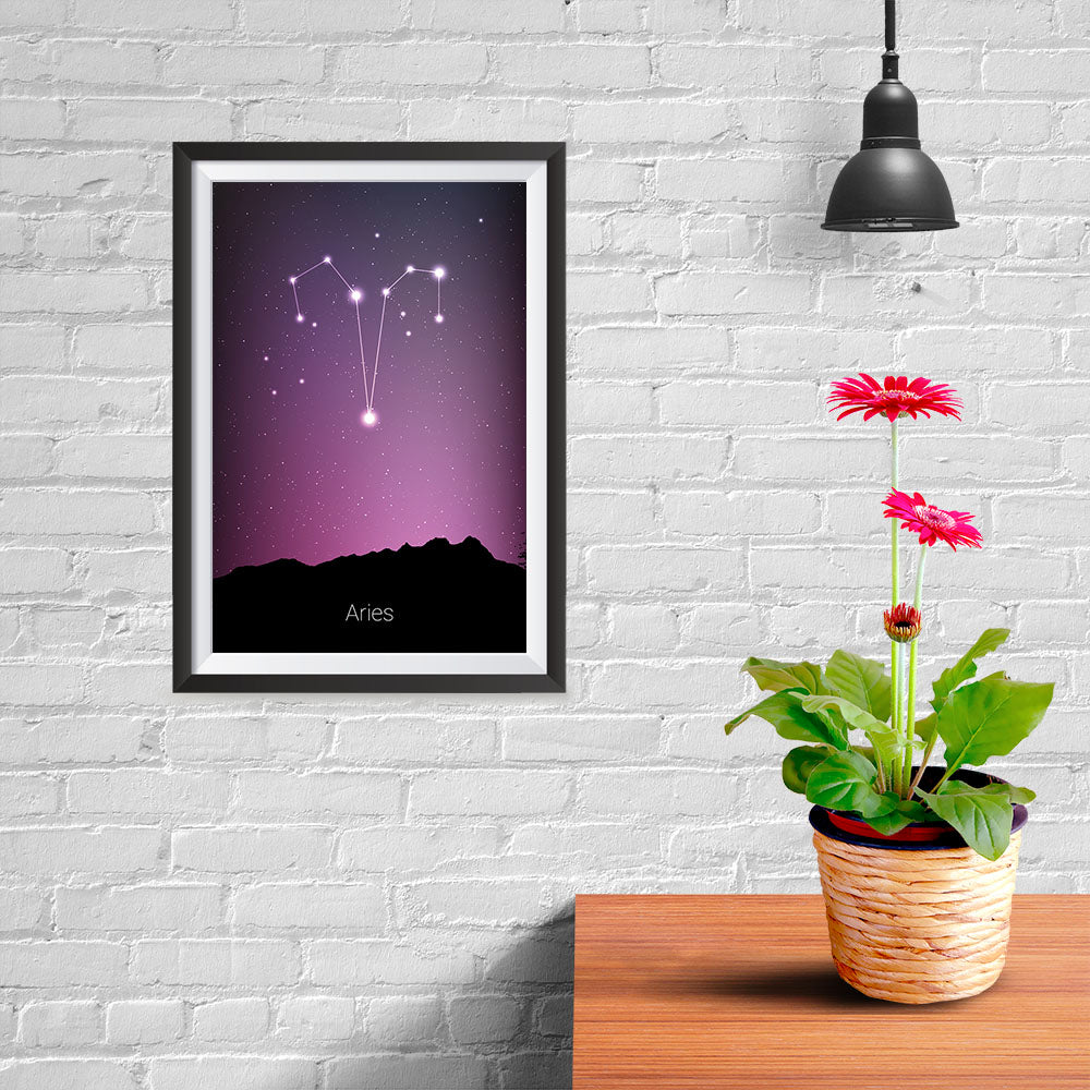 Ezposterprints - Horoscope Posters: Aries - 08x12 ambiance display photo sample