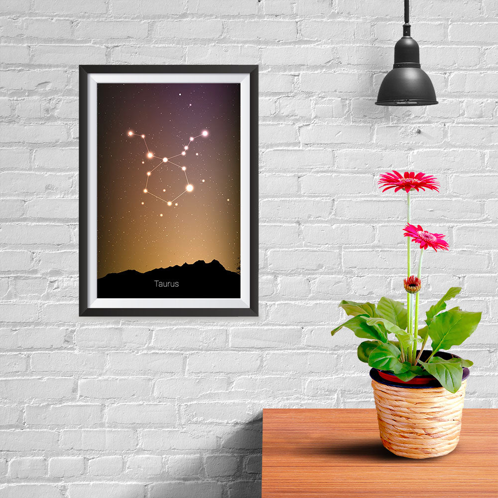 Ezposterprints - Horoscope Posters: Taurus - 08x12 ambiance display photo sample
