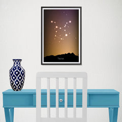 Ezposterprints - Horoscope Posters: Taurus - 12x18 ambiance display photo sample