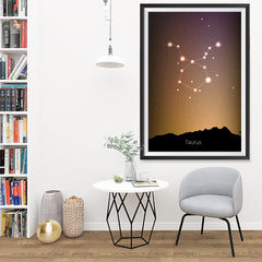 Ezposterprints - Horoscope Posters: Taurus - 32x48 ambiance display photo sample