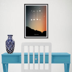 Ezposterprints - Horoscope Posters: Gemini - 12x18 ambiance display photo sample