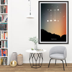 Ezposterprints - Horoscope Posters: Gemini - 32x48 ambiance display photo sample