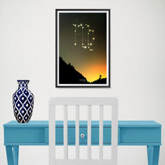 Ezposterprints - Horoscope Posters: Virgo - 12x18 ambiance display photo sample