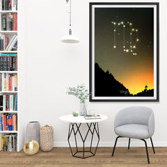 Ezposterprints - Horoscope Posters: Virgo - 32x48 ambiance display photo sample