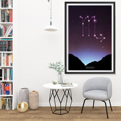 Ezposterprints - Horoscope Posters: Scorpio - 32x48 ambiance display photo sample